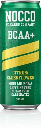 NOCCO BCAA+ – 330 ml citron/bezový květ
