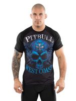 Rashguard Pitbull West Coast Blue Skull