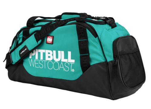Sportovní taška Pitbull West Coast TNT černo-tyrkysová