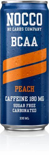NOCCO BCAA – 330 ml (sycený) broskev