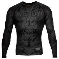 Rashguard Venum Devil dlouhý rukáv matná černá