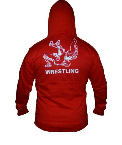 Mikina Wrestling kapuce červená