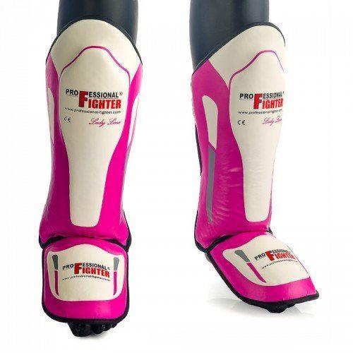 Chrániče holení a nártu Professional Fighter růžová