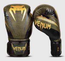 Boxerské rukavice Venum Impact zeleno-zlatá