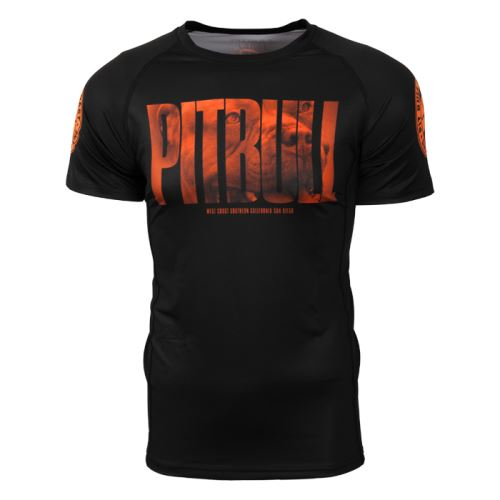 Rashguard PitBull West Coast Orange DOG