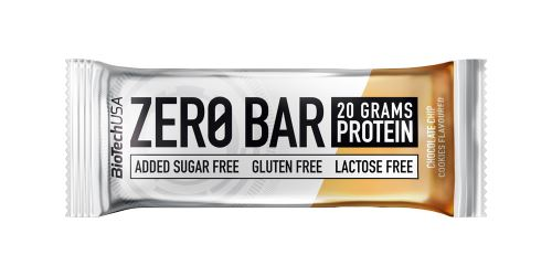 BioTech USA Zero Bar 50g - čokoláda + cookies