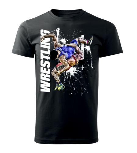 Tričko Wrestling Winner černá