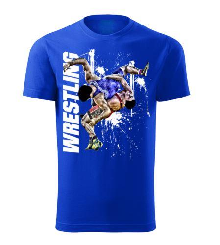 Tričko Wrestling Winner modrá