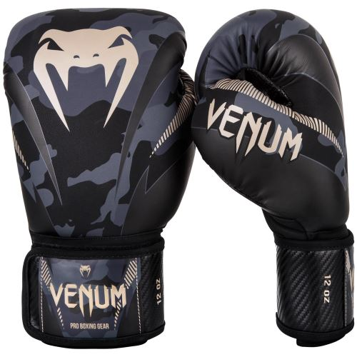 Boxerské rukavice Venum Impact dark/camo