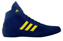 Zápasnické boty Adidas Havoc dětské tkaničky, modrá