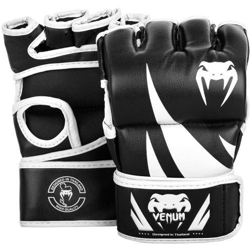 MMA rukavice Venum Challenger bez place černo-bílá