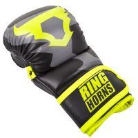 MMA rukavice Ringhorns Charger Sparring černo - Neo žlutá 2