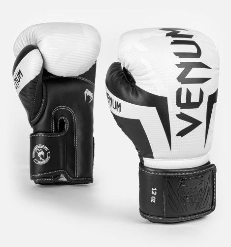 Boxerské rukavice Venum Elite bílý maskáč