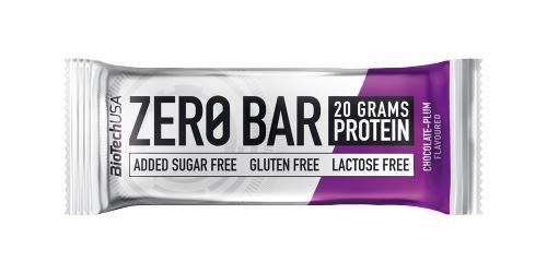 BioTech USA Zero Bar 50g - čokoláda+švestka