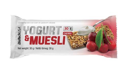 BioTech Yogurt & Muesli 30g - višeň