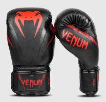 Boxerské rukavice Venum Impact černo-červená