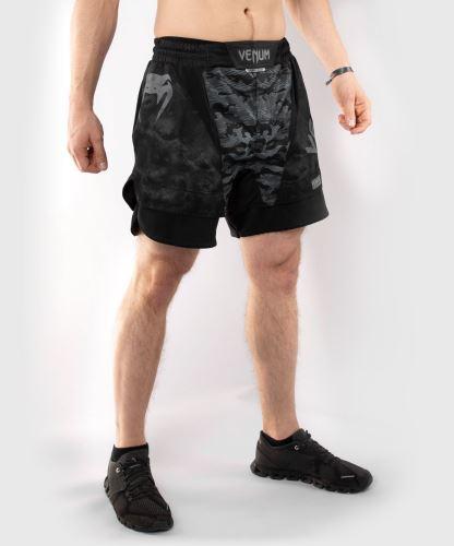 MMA šortky Venum Defender tmavý maskáč