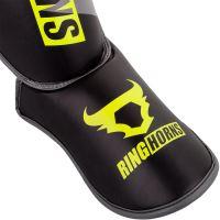 Chrániče holení a nártu Ringhorns Charger černo - Neo žlutá