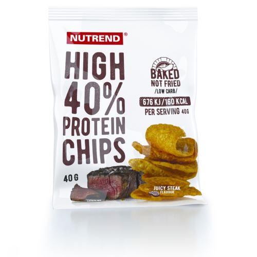 Nutrend High Protein chips 40g juicy steak