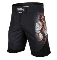 MMA šortky Pitbull West Coast Skull Boxer černá