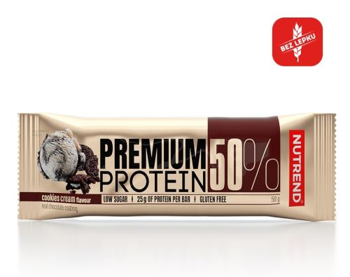 Nutrend Premium Protein 50 bar 50g cookies-cream