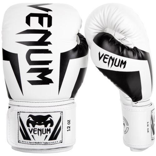 Boxerské rukavice VENUM Elite bílo-černá