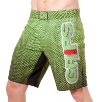 MMA šortky Grips Snake green