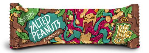 LifeLike Protein Bar Salted peanuts - chocolate 50g