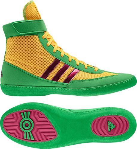 Zápasnické boty adidas Combat Speed 4 žluto/zelená