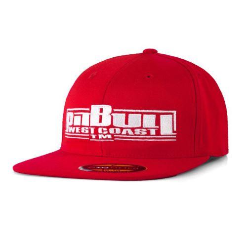 Snapback Pitbull West Coast Full Flat boxing červená