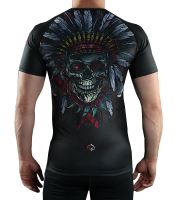 Rashguard Ground Game Indian Skull krátký rukáv