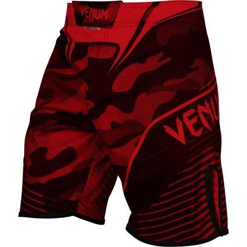 MMA šortky Venum Camo HERO, červeno-černá