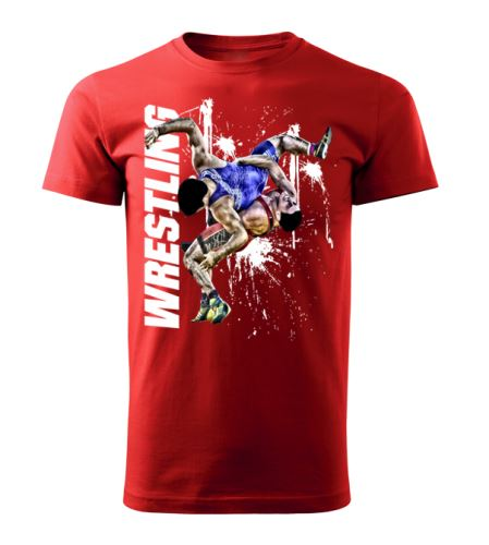 Tričko Wrestling Winner červená