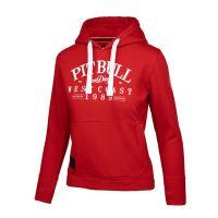 Dámská mikina Pitbull West Coast Oldschool červená