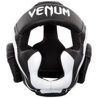 Chránič hlavy Venum Elite černo-bílá 2
