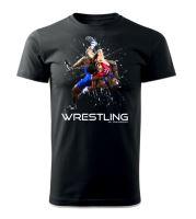 Tričko Wrestling Forever černá