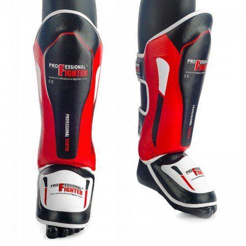 Chrániče holení a nártu Professional Fighter černo-červená