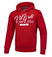 Mikina Pitbull West Coast El JEFE červená s kapucí