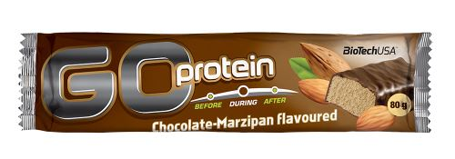 BioTech USA Go Protein Bar 80g - čokoláda / marcipán