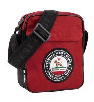 Pánská taška přes rameno Pitbull West Coast CIRCAL DOG červeno-černá