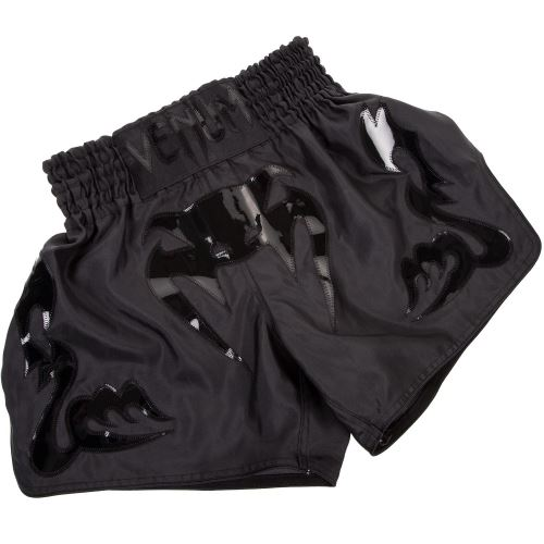 Thajské šortky VENUM Bangkok,matná černá