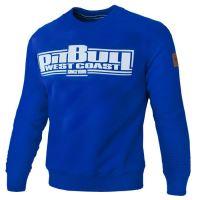 Mikina Pitbull West Coast Classic Boxing bez kapuce modrá