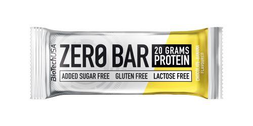 BioTech USA Zero Bar 50g - čokoláda+banán