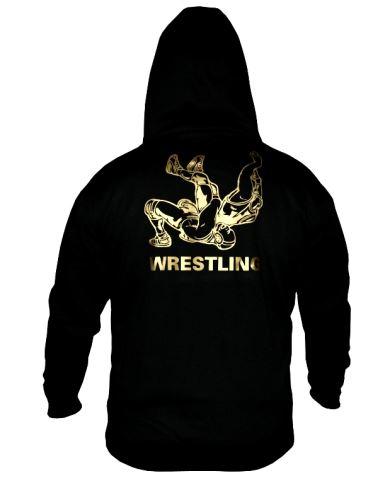 Mikina Wrestling kapuce černá