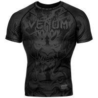 Rashguard Venum Devil krátký rukáv matná černá
