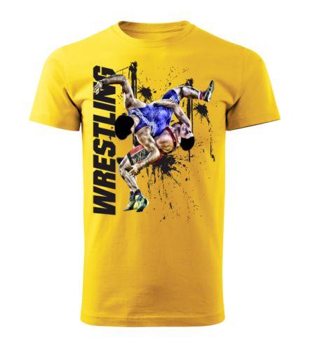 Tričko Wrestling Winner žlutá