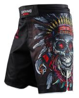 MMA šortky Ground Game Indian Skull