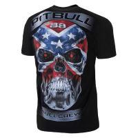 Tričko Pitbull West Coast Skull Rebell 18 černé