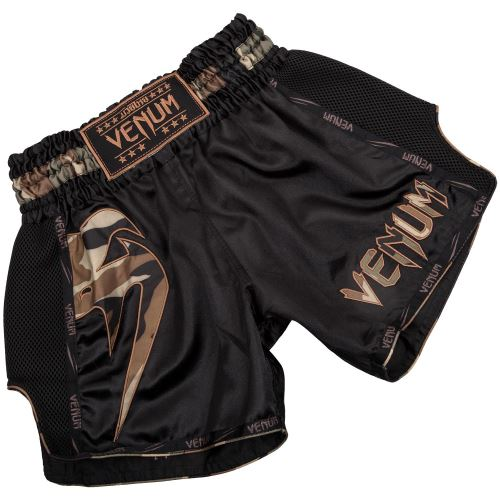 Thajské šortky Venum Giant černo-maskáč