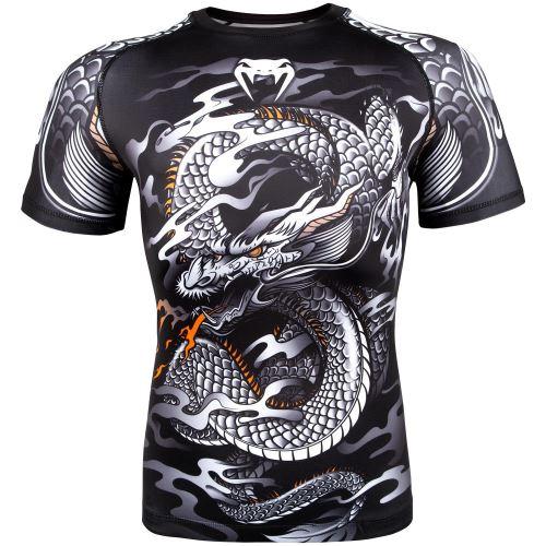 Rashguard Venum Dragons Flight černo-bílá krátký rukáv